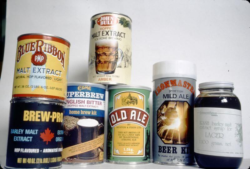 Ingredientes para elaborar cerveza casera en la década de 1970